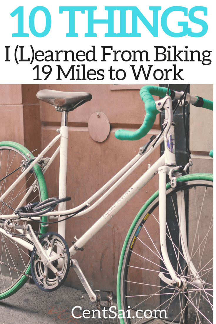 I love driving cars, but I discovered that biking every day made me both healthier and wealthier – and it felt good, too! I'm about to tell the many lessons I learned from commuting 19 miles per day on my ($99 Wal-Mart) bicycle.