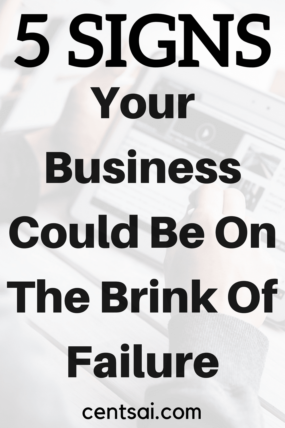 5 Signs Your Business Could Be On The Brink Of Failure. Owning a Laundromat isn't easy, and if you're not careful, it's easy to miss - or ignore - fatal mistakes out of sheer stubbornness.