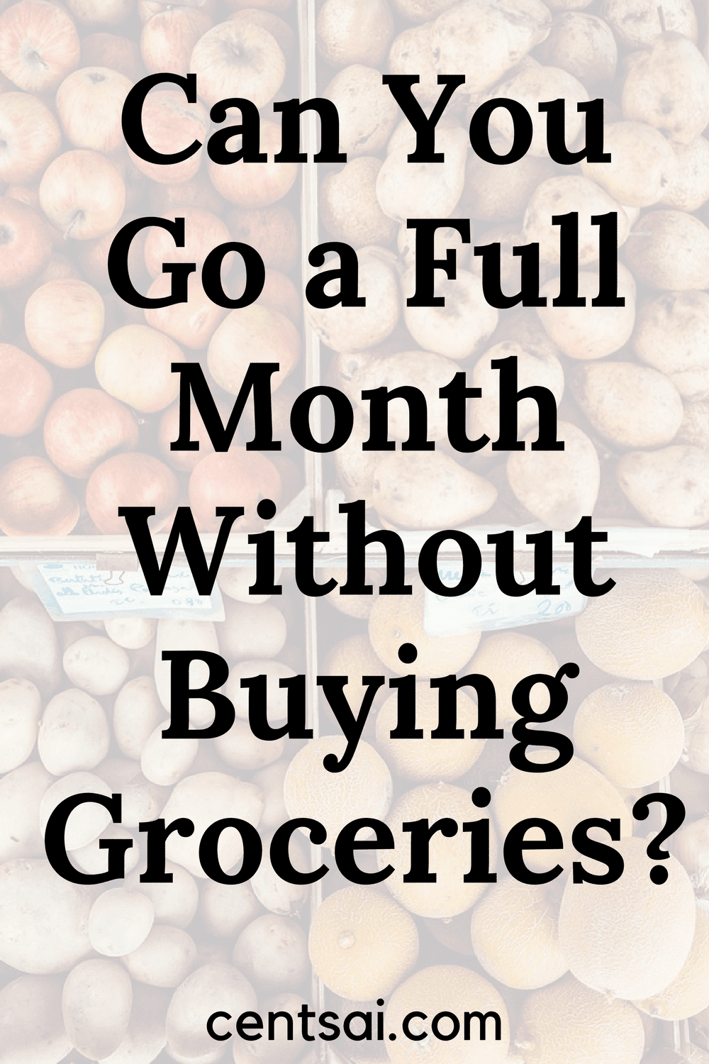Can You Go a Full Month Without Buying Groceries? Take the challeenge and see how much you can save!