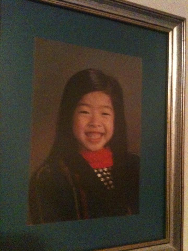 A childhood photo of Rumi Spice's founder, Kimberly Jung