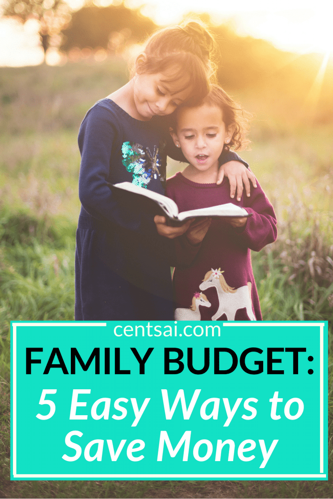 Family Budget: 5 Easy Ways to Save Money. Does it hurt your head just to think about your family budget? We've got you covered. Check out one mom's five easy ways to save money. #familybudget #savingtips #savingmoney