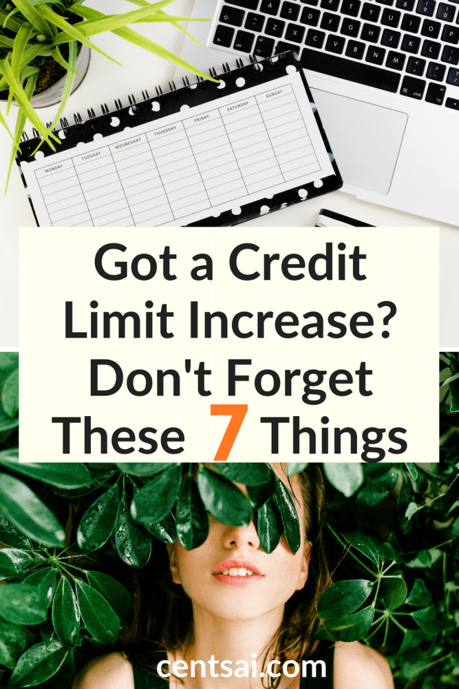 Got a Credit Limit Increase? Don't Forget These 7 Things. Congrats — you just got a credit limit increase on your card. But do you know the dangers that come with it? Learn now before you regret it. #creditlimit #creditcard