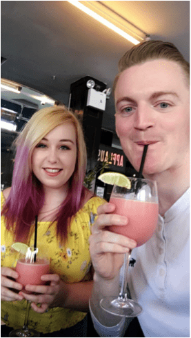 The Cost of Dining Out: My Extravagant Week | Kelly and Eoin at anonymous bar