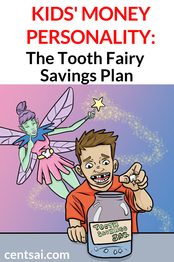 Kids' Money Personality: The Tooth Fairy Savings Plan. Whether cashing teeth in immediately or saving up for big bucks from the tooth fairy, some kids show their money personality at a young age. #saving #savings #savingstracker #savingsplan